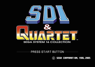 Sega Ages 2500 Series Vol. 21: SDI & Quartet: Sega System 16 Collection